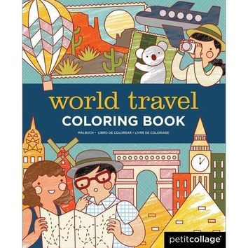 Petit Collage World Travel Coloring Book