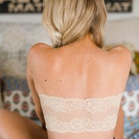 Laced Back Bandeau Bra