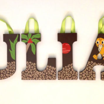 personalized wooden wall letters for nursery and kids room custom name inspired by disney baby