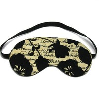 Flower Script Sleep Eye Mask by oddsnblobs on Etsy