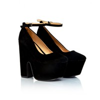 Missguided - Ceela Suede Platform Shoes In Black