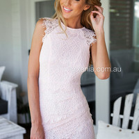 Jessica Dress (Baby Pink) | Xenia Boutique | Women's fashion for Less - Fast Shipping