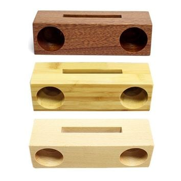 Innovative Bamboo Wood Mobile Phone Sound Amplifier Stand Holder Cell Phone Stand Wooden Support With Sound Amplifier