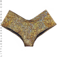 Gold Druzy Boyshorts