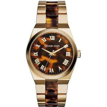 MICHAEL KORS Channing Tortoise-Shell Dial Ladies Watch MK6151