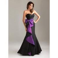 A-Line Sweetheart Floor-Length Taffeta Prom Dress SAL1087