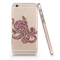 Octopus Clear Transparent Plastic Phone Case for Iphone 6 6s_ SUPERTRAMPshop
