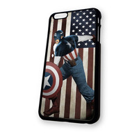 Captain America Flag iPhone 6 Plus case