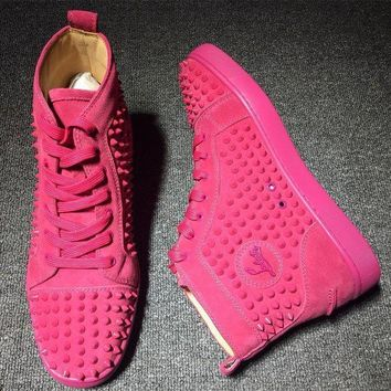 PEAPNW6 Cl Christian Louboutin Louis Spikes Style #1831 Sneakers Fashion Shoes