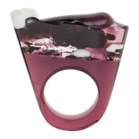 Purple Murano Glass Ring