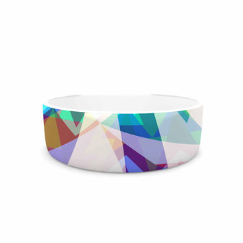 "Miranda Mol ""Triangle Party"" Multicolor Pet Bowl"