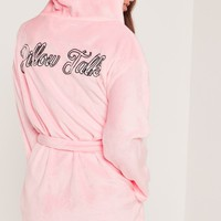 Missguided - Pillow Talk Dressing Gown Pink