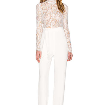 Allegra Lace Pantsuit in Milk