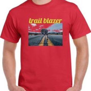 mens and womens Trail Blazer T Shirt in red | eBay