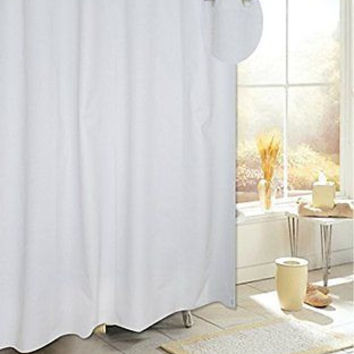 Royal Bath Easy On PEVA Non-Toxic Shower Curtain Liner with Built in Hooks