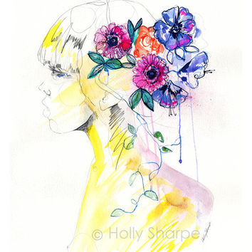 Felicity // A3 LIMITED EDITION giclée print from an original  watercolour