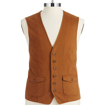 Black Brown 1826 Colorblock Vest