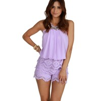 Lavender Summer On My Mind Romper