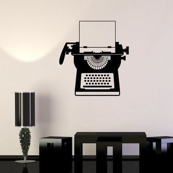 Vinyl Wall Stickers Typewriter Writer Vintage Decal Mural Unique Gift (199ig)