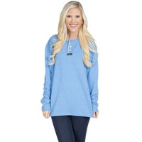Boyfriend Sweatshirt in Cloud Blue by Lauren James - FINAL SALE