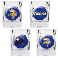 Minnesota Vikings 4-pc. Square Shot Glass Set (Purple/Blue/Gold)