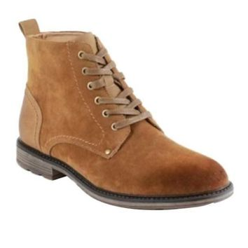 Men's Lace-up Ankle Boots (Caramel)