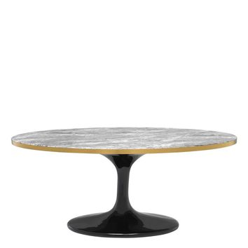 Oval Grey Marble Coffee Table   Eichholtz Parme