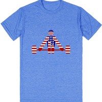 USA Weightlifter - Powerlifting - Red White and Blue | T-Shirt | SKREENED