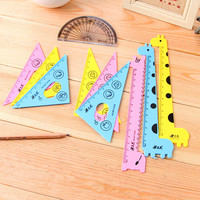 New Arrival Kawaii Ruler Set School Supplies Animal Cute School Tools Stationary Creative Cartoon Students Shape