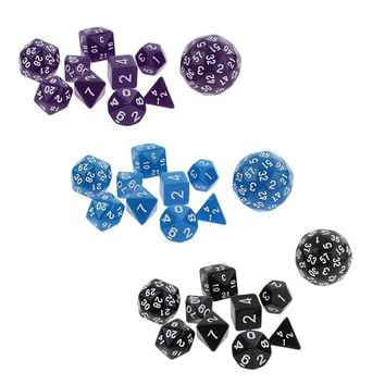 10Pcs Multi Sided Dices Set for RPG Dungeons & Dragon Roleplay Game Polyhedral Dice Rpg Game Dice