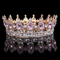 """Harper"" Pink Crystal Princess Crown"