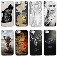 264GV The Game of Thrones Hard Transparent Cover Case for iphone 4 4s 5 5s se 6 6s 8 plus 7 7 Plus X