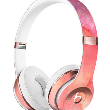 Pinkish 1102 Absorbed Watercolor Texture Full-Body Skin Kit for the Beats by Dre Solo 3 Wireless Headphones