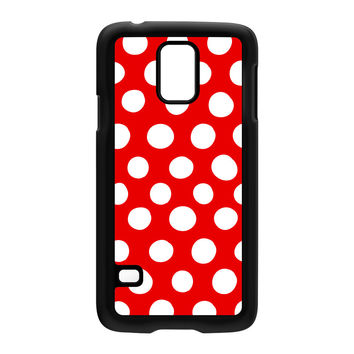 White and Red Polka Dot Pattern Hard Plastic Case for Samsung Galaxy S5 by UltraCases
