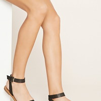 Laser Cut Faux Leather Sandals