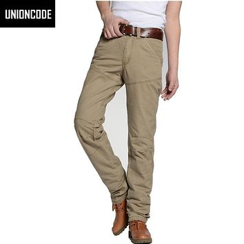 Cargo Pants Regular Fit 3D Cut By Solid No Stretch Mens Military Cotton Pantalones Hombre Casual Chinos For Men 801