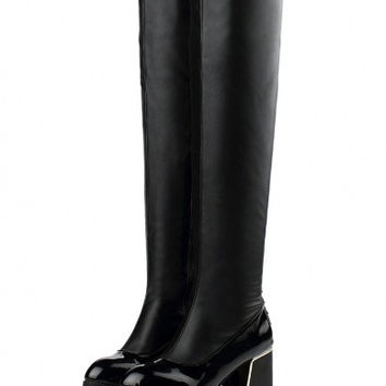Casual boots for women pure color rivet decorate shoes # 45333