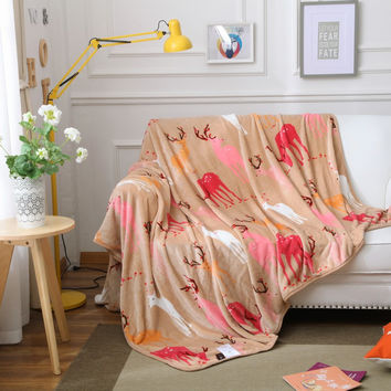 High Quality Flannel Blanket daffodils kids Adult Winter Autumn Thick Warm Flowers Super Soft Coral Fleece Blankets On The Bed