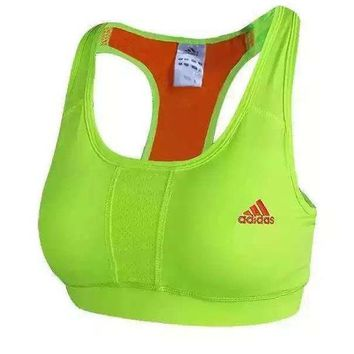Adidas Women Casual Gather Embroidery Sports Yoga Gym Vest Tank Top Cami