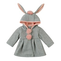 Baby Girls coat Winter clothes Infant Girls Autumn Winter Hooded Coat Cloak Jacket Thick Warm Clothes