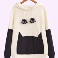 cool cat head hoodie