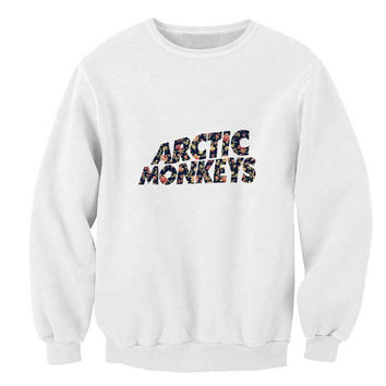 arctic monkeys sweater White Sweatshirt Crewneck Men or Women for Unisex Size with variant colour