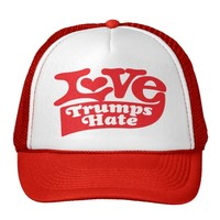 LOVE TRUMPS HATE TRUCKER HAT