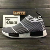 """Women """"Adidas"""" NMD Boost Casual nmd Sports Shoes Black white stripe"""
