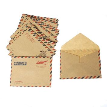 Urijk 40PCs Paper Envelopes Random Pattern Letter Vintage Airmail Envelopes DIY Scrapbooking Accessories Gifts