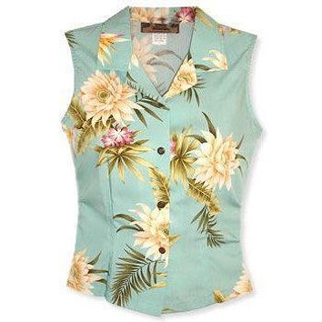 mountain hawaiian sleeveless blouse