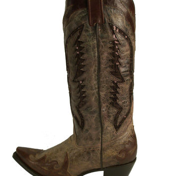 Corral Brown Sequence Eagle Western Boots R1111