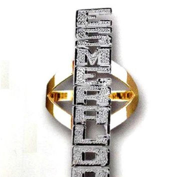 14k Gold Overly Any Name Ring Personalized Jewelry Rings/up Down