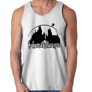harry potter hogwart disney castel For Mens Tank Top Fast Shipping For USA special christmas ***