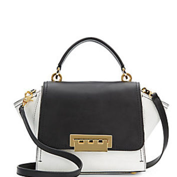 ZAC Zac Posen - Eartha Mini Colorblock Embossed Leather Satchel